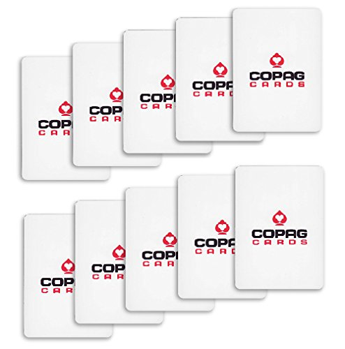 Copag Pack of 10 Plastic Cut Cards - White - Poker Size - Cut Card