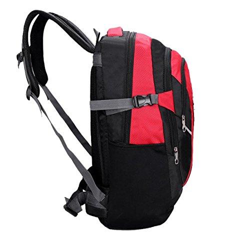 Yy.f40L Im Freien Wandern Camping Wasserdicht Nylon Reisen Gepäcktasche Rucksack Tasche (3 Farben) Red