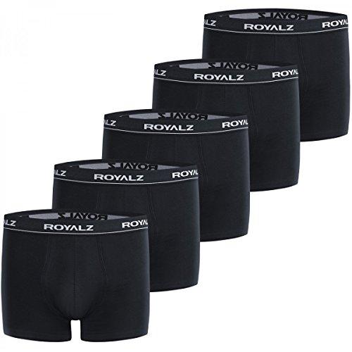 ROYALZ Boxershorts (5 Stück) Herren Unterwäsche Set Unterhosen 95% Baumwolle 5% Elasthan, Größe Unterwäsche:L (Set Boxer Stück)