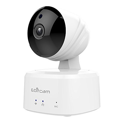 Ebitcam Smart WiFi Camera,Wireless Monitor with Pan/Tilt Two-Way Audio,Night Vision,7/24 Recording with Motion Alarm…