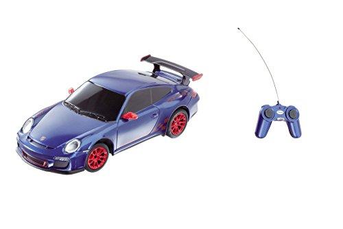 Mondo Motors - 63098 - Voiture Radio Commande - Porshe GT3 RS - Echelle 1/ 24 - Bleu metalise/rouge
