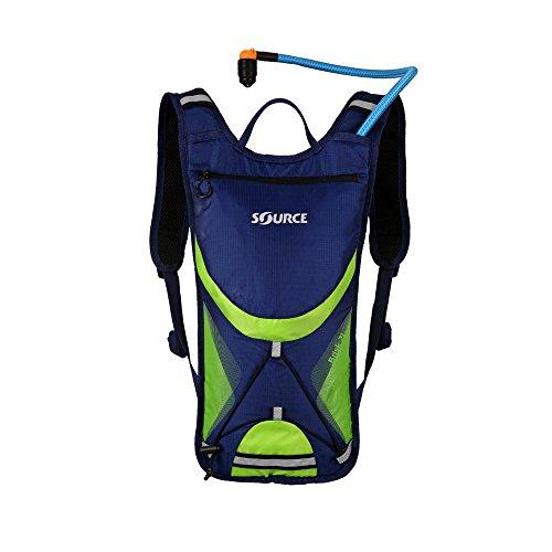 Preisvergleich Produktbild Source Brisk Trinkrucksack 2 Liter Dark Blue / Green 2017 Outdoor-Rucksack Damen Herren