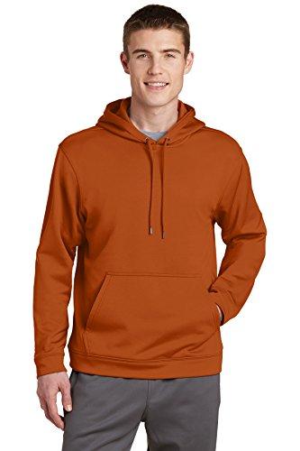 Sport-Tek® Sport-Wick® Fleece Hooded Pullover. F244 Texas Orange S