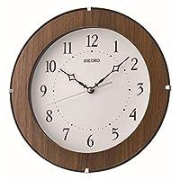 SEIKO Quiet sweep hand wooden wall clock diameter 29.9 cm
