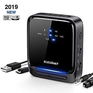 Zerone 3,5/mm AUX Altavoz Wireless Adaptador USB Bluetooth Receptor 5/V port/átil Coche est/éreo Adaptador transmisor con 3,5/mm Cable