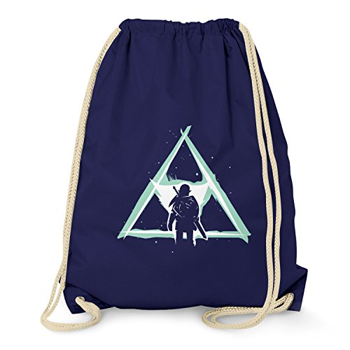 Epona Kostüm - NERDO - Triforce Light - Turnbeutel, navy