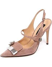 SERGIO ROSSI F0946 Sandalo Donna Pink SR1 Scarpe Suede Shoe Woman baa30ed5b3f