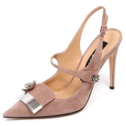 best sneakers 93483 173ba F0946 Sandalo Donna Pink SERGIO ROSSI SR1 Scarpe Suede Shoe Woman [37]