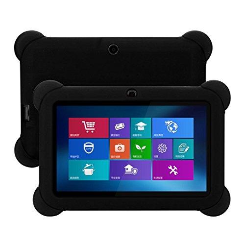 Tablet-gel-fall 7in (samLIKE Silikon Gel Schutz zurück Fall Deckung für 7 Zoll Android Tablet Q88 (Schwarz))