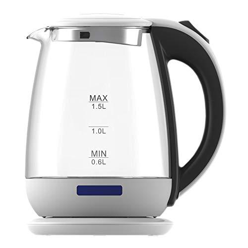 Ardes ar1k35 bollitore elettrico in vetro borosilicato capacità 1,5 l arresto automatico senza fili base di rotazione a 360° per acqua tisane tè