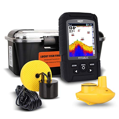 Lucky Portable Wireless+Wired 2 In One Waterproof Fish Finder Monitor FF718LIC