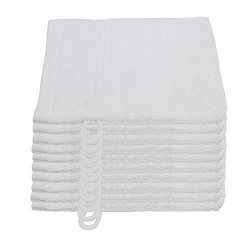 Julie Julsen 10er Pack Waschlappen 23 Farben erhältlich Weich und saugstark 500gsm Öko Tex Weiß 15 x 21 cm