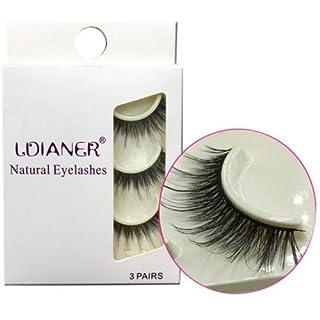 IGEMY 1 Box Luxury 3D False Lashes Fluffy Strip Eyelashes Long eyelashes natural (Black)