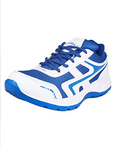 Columbus TB-8 Mesh Sports Shoes for Men (UK 6, WhiteRBlue)