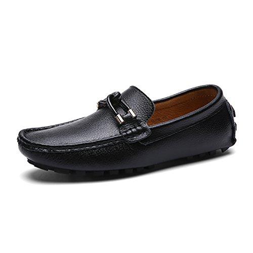 Baymate Chaussures Décontractés Pour Hommes Conduite Designer Mocassins À Enfiler Noir