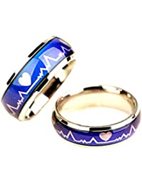 Sorella'z Unisex Metal Multicolor Color Changing Mood Ring Combo for Couples