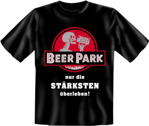 Funshirt + gratis Spaß Urkunde - Motiv Beer Park nur die Stärksten überleben! witzig lustig Spruch Schwarz