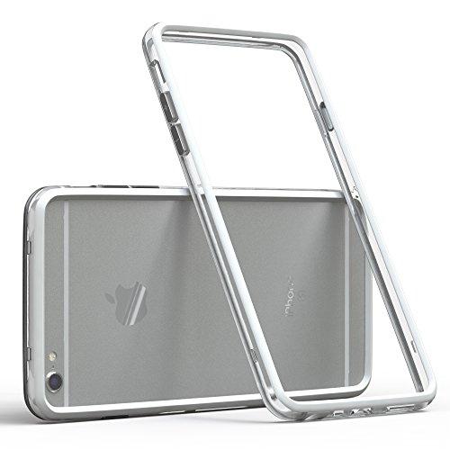 EAZY CASE Bumper für iPhone 6 / iPhone 6S Silikon Bumper für Apple iPhone 6 / iPhone 6S - Flexible Schutzhülle ALS Rahmenschutz in Weiß (Apple Iphone Bumper)
