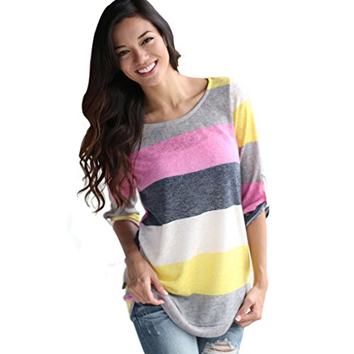 Women's V-neck Casual Short Sleeve T-shirt Blouse Tees Tops
