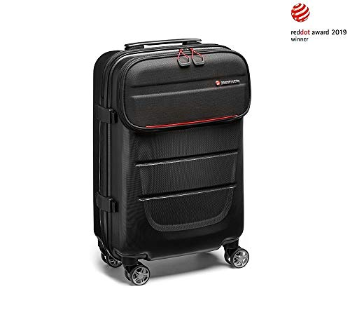 Manfrotto MB PL-RL-S55 Pro Light Trolley Spin-55 -Handgepäcktauglich- Universeller Koffer (für Foto und Video Equipment, komplett entnehmerbares Kamerafach zur Nutzung als normaler Reisetrolley)
