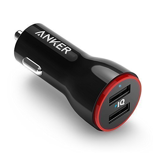 Anker PowerDrive 2 Auto Ladegerät 24W / 4.8A 2-Port USB Kfz Ladegerät Power IQ für iPhone 7 / 7 Plus / 6s / 6s Plus / iPad Pro / Andriod / Galaxy S7 / S7 Edge / S6 Edge / Nexus 5X / 6P , Tablets, Bluetooth Geräten, Powerbank und mehr