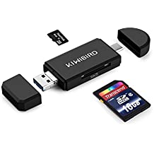 "KiWiBiRD USB Tipo-C + USB 3.0 + Micro USB OTG SD/Micro SD/TF Lector de Tarjetas para Apple MacBook 12"", MacBook Pro Touch Bar, Google 2nd Chromebook Pixel, Pixel C, Nexus 5X&6P, Pixel Phone, LG G5, HTC 10, Huawei P9, OnePlus 3 y más Móviles,Tabletas y PCs"