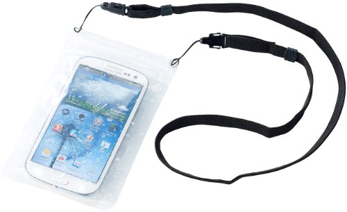 Somikon Wasserdichte Universal-Tasche für iPhone & Smartphone bis 4,8 Zoll