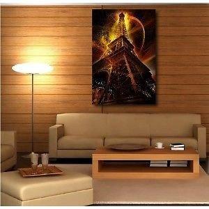 Tabelle Tela decorativa Torre Eiffel illuminata 47951275, 90x120cm