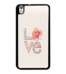 PrintDhaba Love D-2171 Back Case Cover for HTC DESIRE 816 (Multi-Coloured)