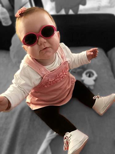Da 6 mesi a 2 anni sicuro Regalo ideale e utile confortevole e resistente Con fascia regolabile ragazzi e ragazze Protezione UV400 Kiddus Baby Comfort Occhiali da sole per bambino