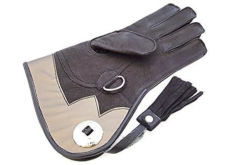 De haute qualité en cuir souple double couche fauconnerie Kids gants/oiseau Manipulation Gants Gants enfant/Pet.