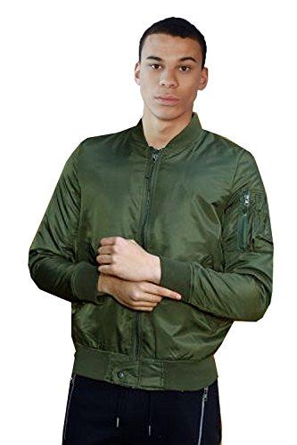 Hommes MA1 Veste Brave Soul Harrington Manteau Rembourré Armée Blouson Motard Hiver Kaki - OSLOPKA