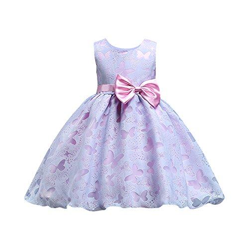 y Prinzessin Kleider Ärmellos Brautjungfer Festzug Kleid Geburtstags Party Hochzeits Kleider (2T) ()