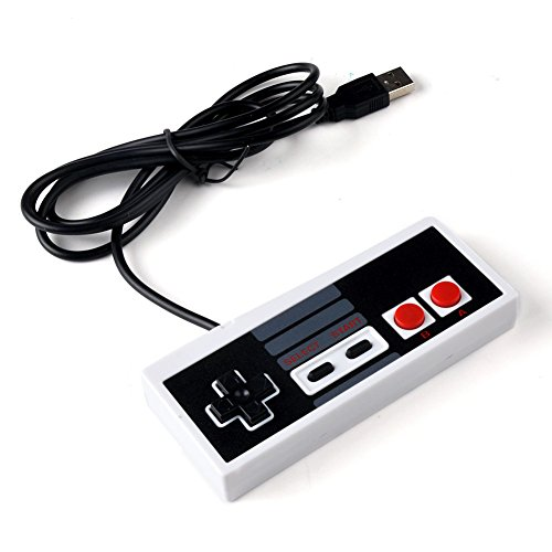 Generic 1pcs 8 Bit Plastic USB Controller Gaming Gamer JoyStick Joypad For NES Windows PC for MAC Computer Accessories Video Games