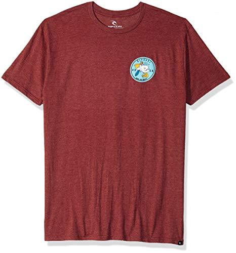 Rip Curl Herren Launchpad Heather Tee T-Shirt, Burgundy, Groß -