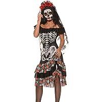 disfraz para despedida de soltera, Halloween, de novia esqueleto, tamaño M (38–40)
