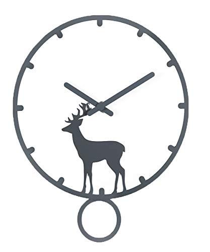 Everyday home Moderne rond horloge murale art de la mode silencieux de balayage mouvement en bois pointeur ultra-précis décoration de la maison chambre cuisine salon café bureau 12 pouces / 14 pouces