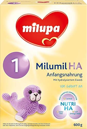 Milumil HA 1 Hypoallergene Anfangsmilch, 600g, MHD-Aktion haltbar bis 11.10.2018