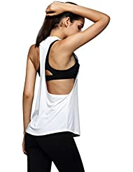 Ouneed® Femme Cool Gym Sport Débardeurs T-shirt Fitness