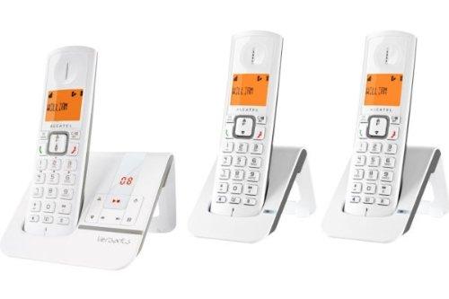 Alcatel Versatis F 230 Voice TRIO Téléphones Sans fil Répondeur Ecran Taupe