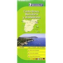 Mapa Zoom Barcelona y alrededores, Costa Brava (Mapas Zoom Michelin)