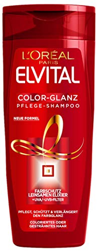 L'Oréal Paris Elvital Color-Glanz Pflege-Shampoo, Farbschutz für colorierte Haare, 3 x 300 ml