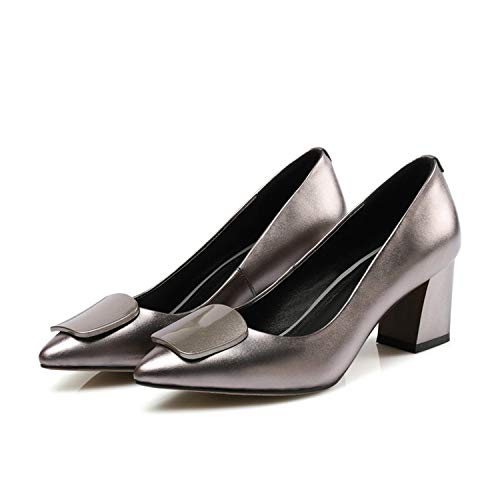 Women Genuine Leather Pumps Wedding Party Handmade Shoes Woman Thick High Heel Comfort Pumps Women 2 6