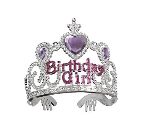 Tiara/Diadem Birthday Girl silber zum Geburtstag