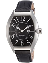 Esprit Collection Herren-Armbanduhr hector night Analog Quarz Leder EL101081F02