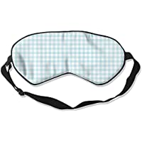 Comfortable Sleep Eyes Masks Blue White Plaid Printed Sleeping Mask For Travelling, Night Noon Nap, Mediation... preisvergleich bei billige-tabletten.eu