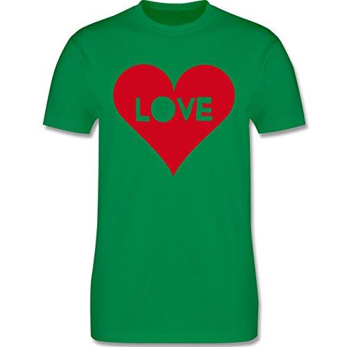 I love - Herz - Love - Herren Premium T-Shirt Grün