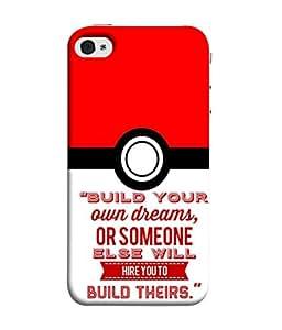 PrintVisa Designer Back Case Cover for Apple iPhone 5S (Build Your Own Dreams Design)