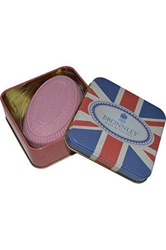 Bronnley Best of British Pink Bouquet Seife & Quadratische Union Jack Schachtel 100g