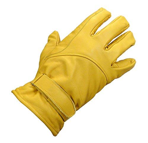 Westernwear-Shop Western-Lederhandschuh Winter Natur Reitsport Handschuhe Reithandschuhe Cowboy Handschuhe Lederhandschuhe für Westernreiten Beige (XL)